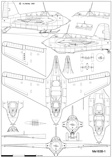 Messerschmitt Me163B-1 Sheet 1