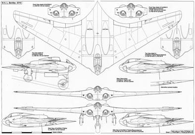 A L Bentley Drawings Horten Ho229 A 0