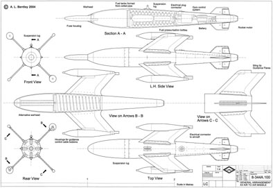 Missile Drawing A. L. BENTLEY D...