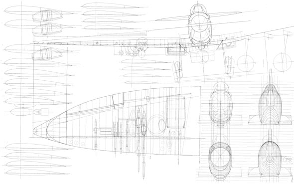 A L Bentley Drawings Supermarine Spitfire